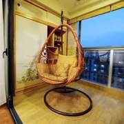 新中式风格大户型封闭式阳台设计装修效果图