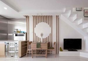 宜家风格简约小复式楼餐厅设计装修效果图