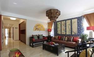 155平米中式风格雅韵大户型室内装修效果图案例