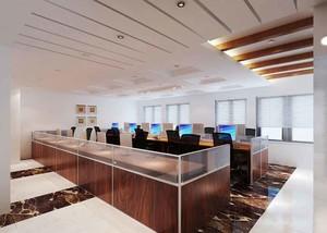 120平米现代风格办公室吊顶设计装修效果图