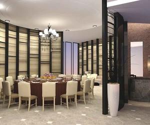 100平米乡村风格餐厅隔断设计装修效果图