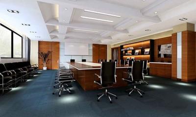 60平米现代风格会议室背景墙装修效果图赏析