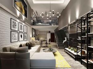 60平米现代风格loft装修效果图赏析