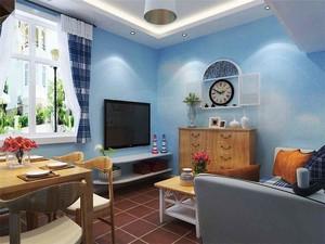 65平米地中海风格一居室小户型装修效果图