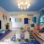 地中海风格大户型室内客厅装修效果图赏析