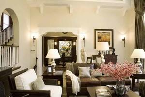 160平米复古风格复式楼室内装修效果图案例