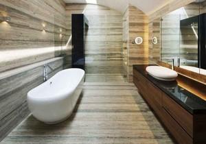 后现代风格大户型室内卫生间瓷砖装修效果图