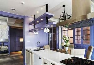 清新简欧风格别墅室内厨房设计装修效果图