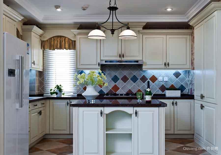 美式风格两居室室内整体厨房装修效果图赏析