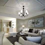 美式风格大户型客厅吊顶装修效果图赏析