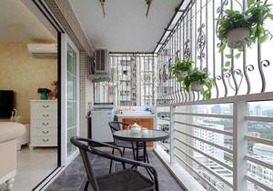 欧式风格三居室阳台阳台防护栏装修效果图