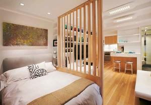 宜家风格小户型卧室隔断设计装修效果图