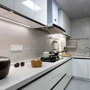 10平米现代简约风格白色经典厨房设计装修效果图