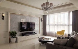 155平米新古典主义风格三室两厅室内装修效果图