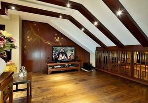 中式风格别墅室内斜顶阁楼装修效果图赏析