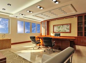66平米新中式风格老总办公室装修效果图赏析