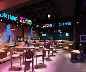 现代风格音乐酒吧装修效果图案例