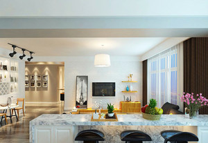 73平米北欧风格两室一厅室内装修效果图鉴赏
