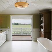 现代美式风格别墅室内卫生间装修效果图赏析