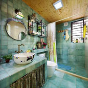 地中海风格大户型卫生间瓷砖装修效果图