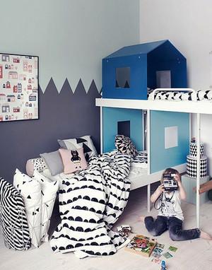 北欧风格清新简约实木儿童床装修效果图大全