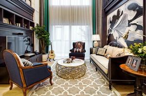 167平米复古风格大户型室内装修效果图案例