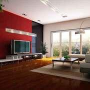 现代简约风格精致客厅电视背景墙装修效果图