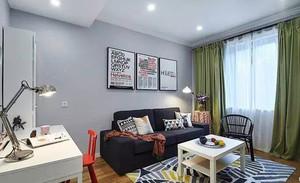 103平米北欧风格两室两厅室内装修效果图赏析