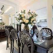 清新美式风格大户型室内餐厅装修效果图赏析