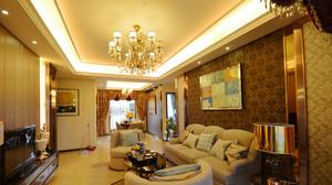 150平米复古美式风格三室两厅室内装修效果图案例