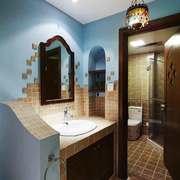 美式风格大户型卫生间浴室柜装修效果图赏析
