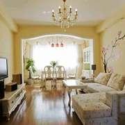 欧式田园风格温馨舒适客厅装修效果图赏析