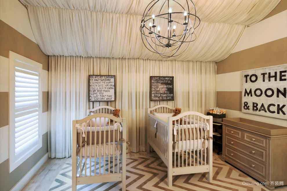 欧式风格精致婴儿房装修效果图赏析