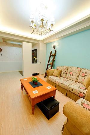 131平米欧式田园风格自然随性两居室装修效果图案例