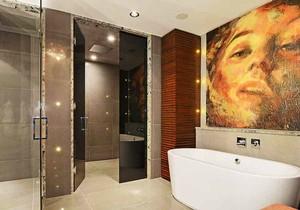 后现代风格精致时尚卫生间瓷砖装修效果图