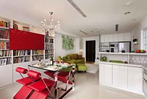 69平米现代简约风格一居室小户型室内装修效果图赏析