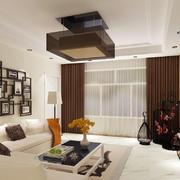 新中式风格两居室客厅照片墙装修效果图