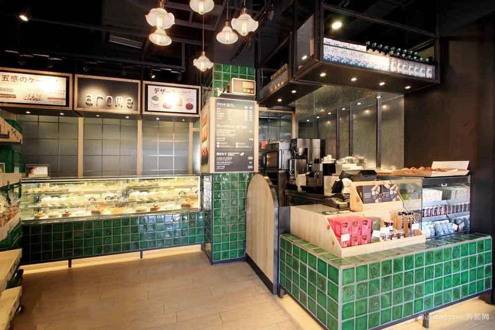 50平米现代简约风格快餐店装修效果图