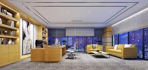 66平米现代风格老总办公室装修实景图赏析