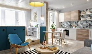 55平米北欧风格单身公寓装修效果图赏析