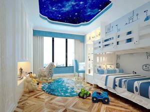 地中海风格蓝色儿童房设计装修效果图赏析