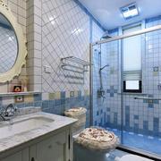 地中海风格大户型室内卫生间隔断设计装修效果图