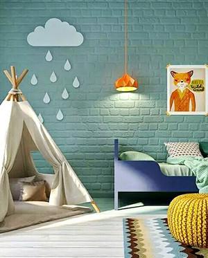 北欧风格两居室儿童房背景墙装修效果图大全