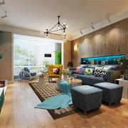 后现代风格大户型客厅背景墙装修效果图赏析
