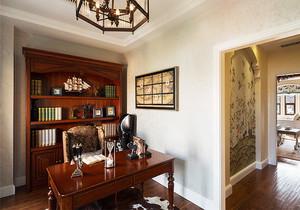 美式风格大户型室内书房装修效果图赏析