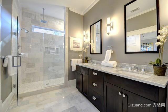 美式风格大户型室内卫生间装修效果图大全