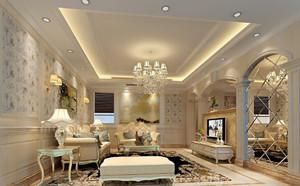 159平米欧式风格精致典雅大户型室内装修效果图赏析