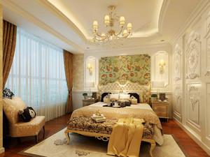 欧式风格别墅室内精美卧室背景墙装修效果图赏析