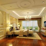 欧式风格别墅室内卧室吊顶设计装修效果图赏析