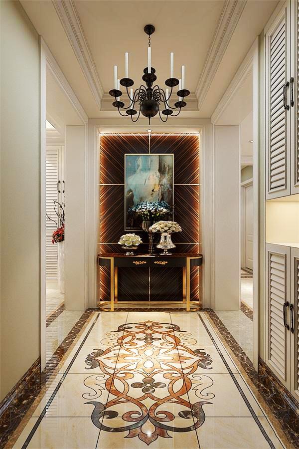 欧式风格大气时尚别墅玄关装修效果图